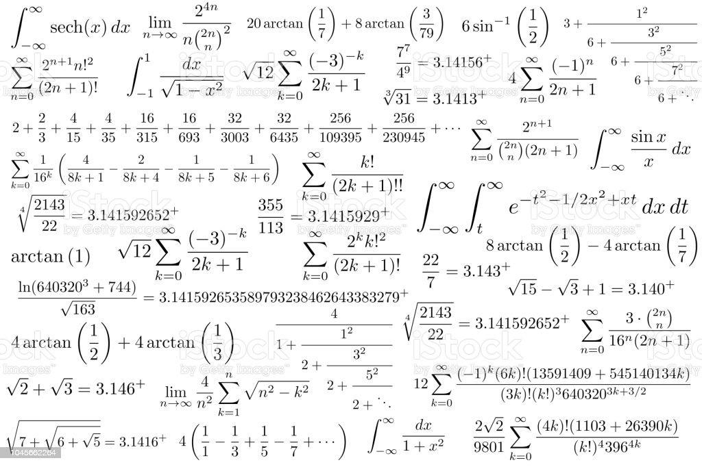 de pi symbool wiskundige constante werkt met irrationele getallen