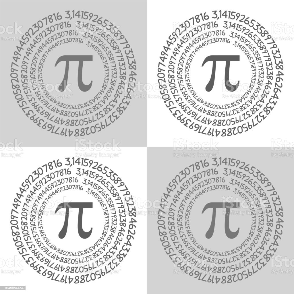 the pi symbol mathematical constant irrational number greek letter pattern background center royalty