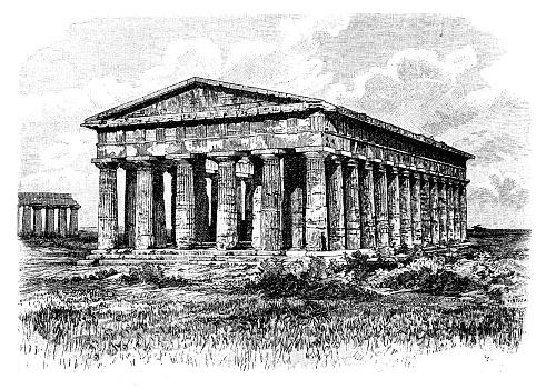 The Poseidon Temple at Paestum