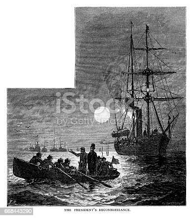 The President's Reconnoissance - scanned 1878 engraving