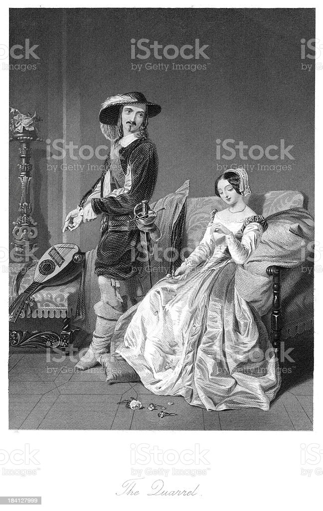 The Quarrel royalty-free the quarrel stock vector art & more images of 19th century