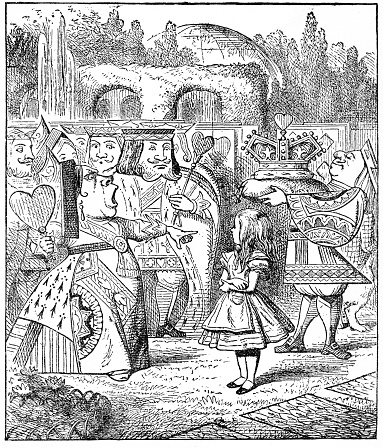 The Queen and King of hearts - Alice in Wonderland 1897