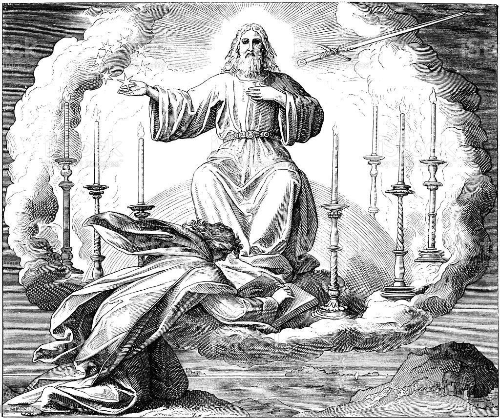 The Revelation to John vector art illustration
