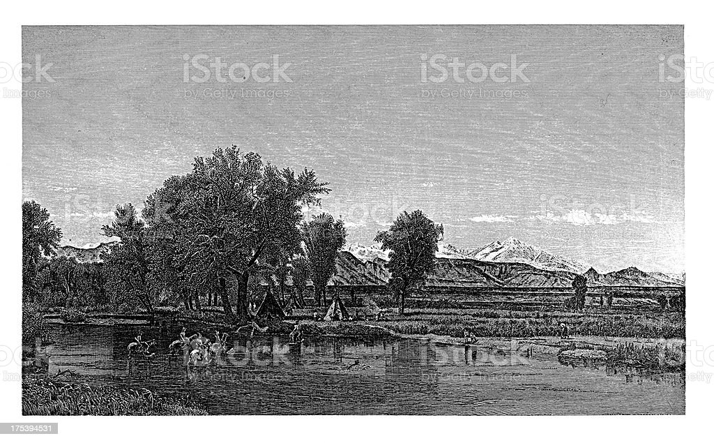The Rocky Mountains, North America | Historic American Illustrations royalty-free the rocky mountains north america historic american illustrations stock vector art & more images of 19th century