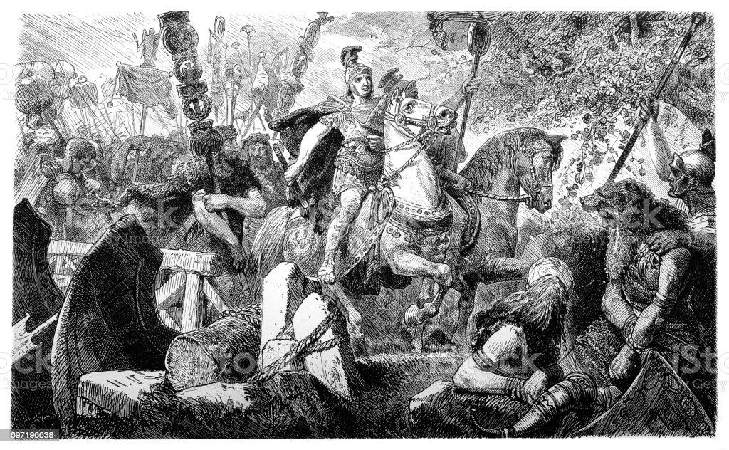 一般ドルススの指揮下のローマ人...