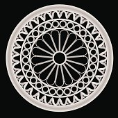 Architectural drawing of the rose window