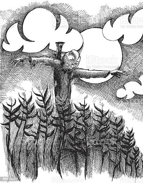The Scarecrow-vektorgrafik och fler bilder på Bläckmålning