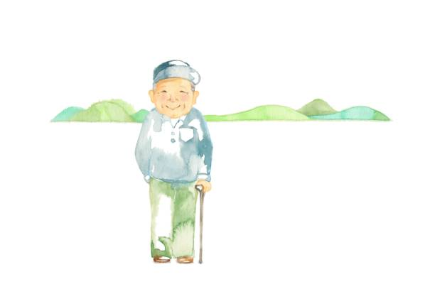 the senior generation - old man hats pictures stock illustrations, clip art, cartoons, & icons