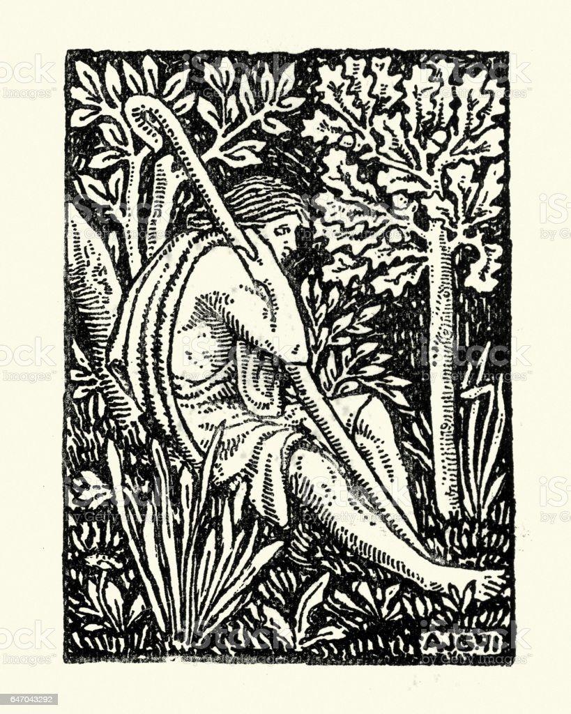 The Shepherd vector art illustration