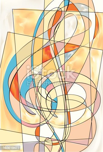 An abstracted treble clef.