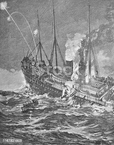 history, vintage, illustration, retro style,  19th Century Style, old, Shipwreck, Ancient, Art,
