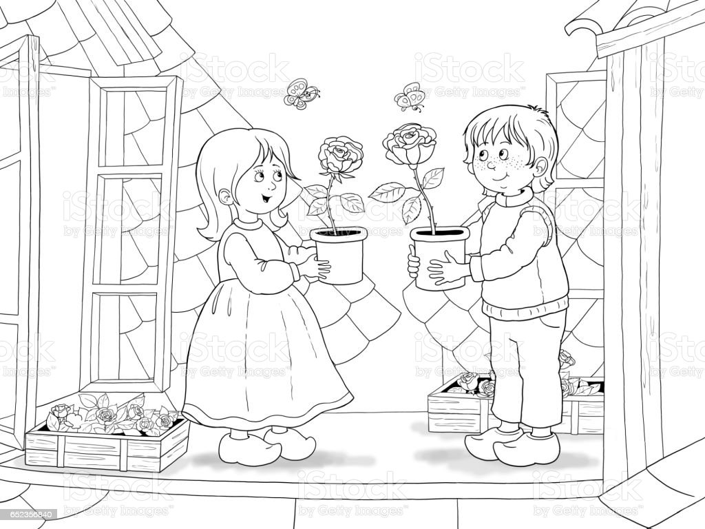 The Snow Queen Fairy Tale Illustration For Children