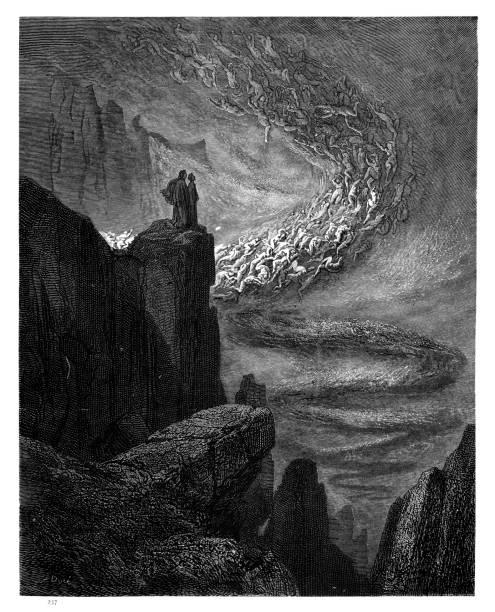 illustrazioni stock, clip art, cartoni animati e icone di tendenza di il caso di razzo di hell in rilievo - dante alighieri