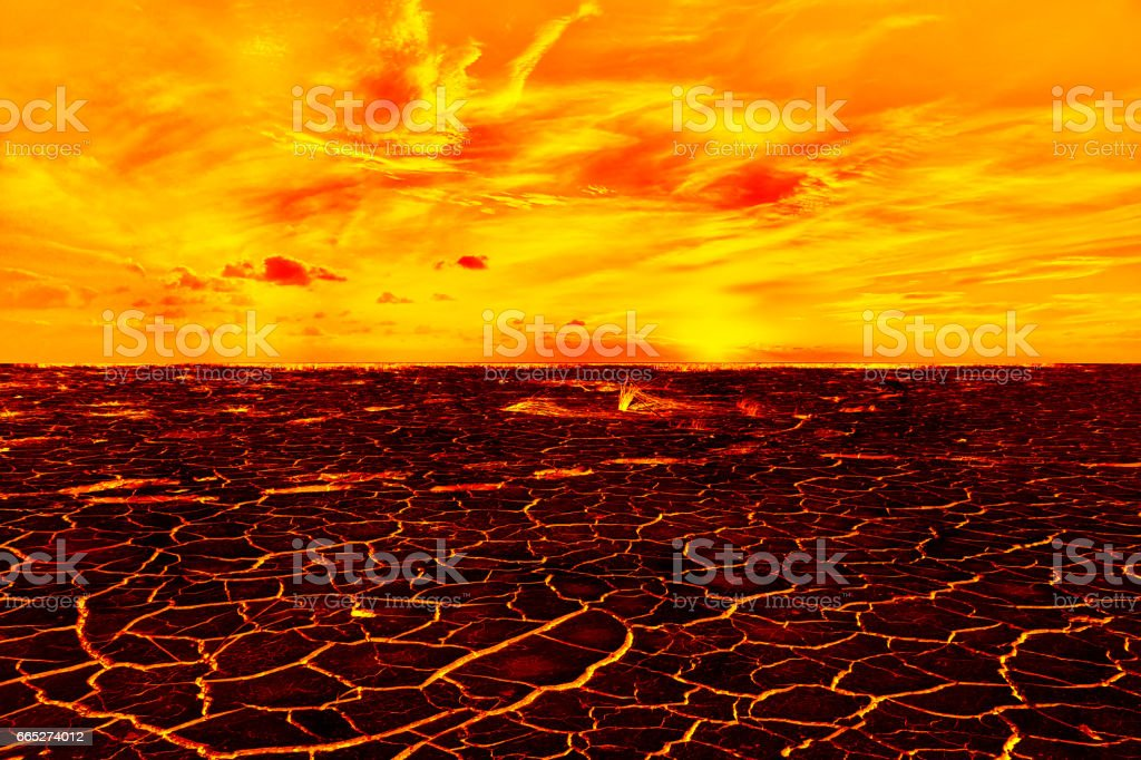 The surface of the lava. background. vector art illustration