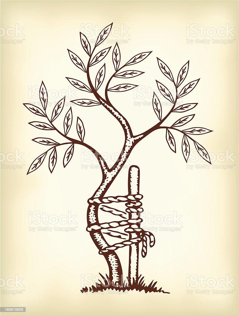 The symbol of orthopedics and traumatology. vector art illustration