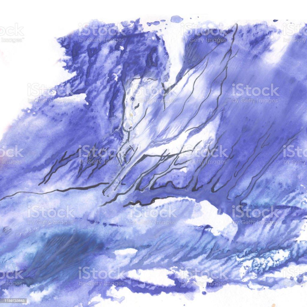 La Technique De Monotype Cheval Pegasus Gouache Image Abstraction Dans La Peinture Vecteurs Libres De Droits Et Plus D Images Vectorielles De Beaute De La Nature Istock