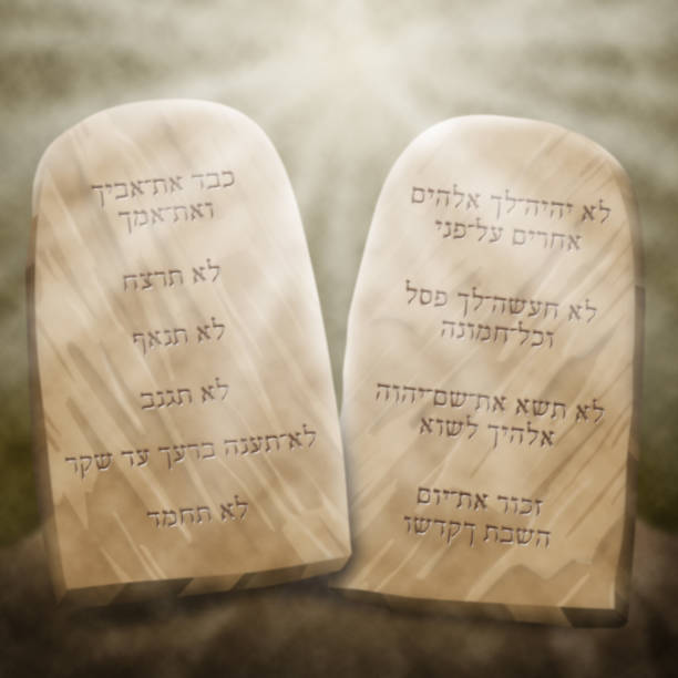 The Ten Commandments vector art illustration