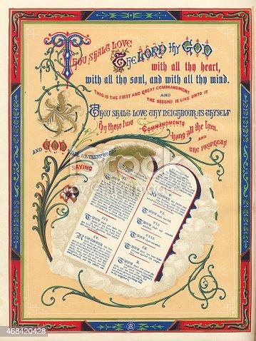 istock The Ten Commandments Illustration 468420428