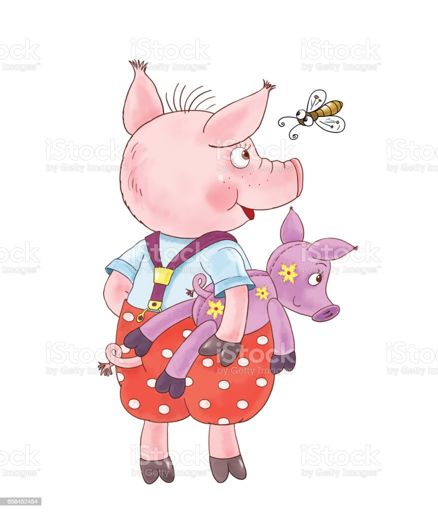 The Three Little Pigs Fairy Tale Coloring Page Cute And Funny ...