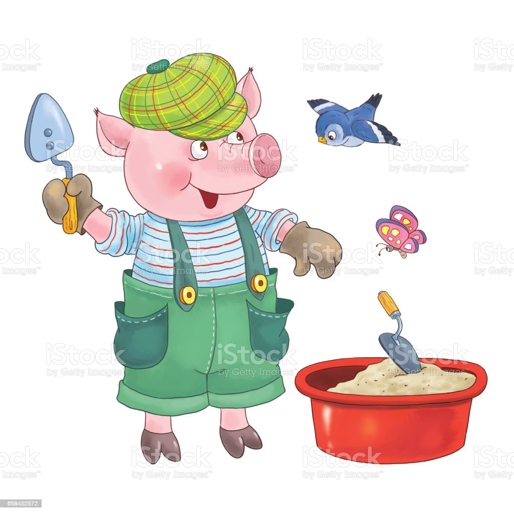 the three little pigs fairy tale coloring page cute and funny rh istockphoto com three little pigs clipart png three little pigs clipart png