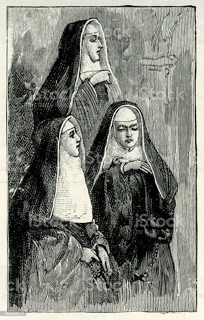 The Three Nuns royalty-free the three nuns stock vector art & more images of adult