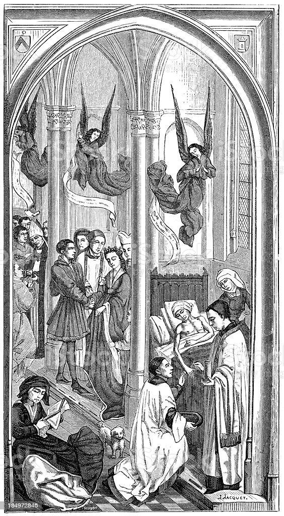 The three sacraments royalty-free stock vector art