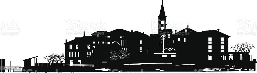 the town. royalty-free stock vector art
