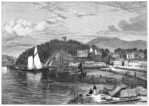 The Town of Portree on the Isle of Skye, Scotland - 19th Century