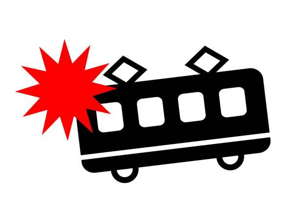 bildbanksillustrationer, clip art samt tecknat material och ikoner med på tåget träffar. - derail