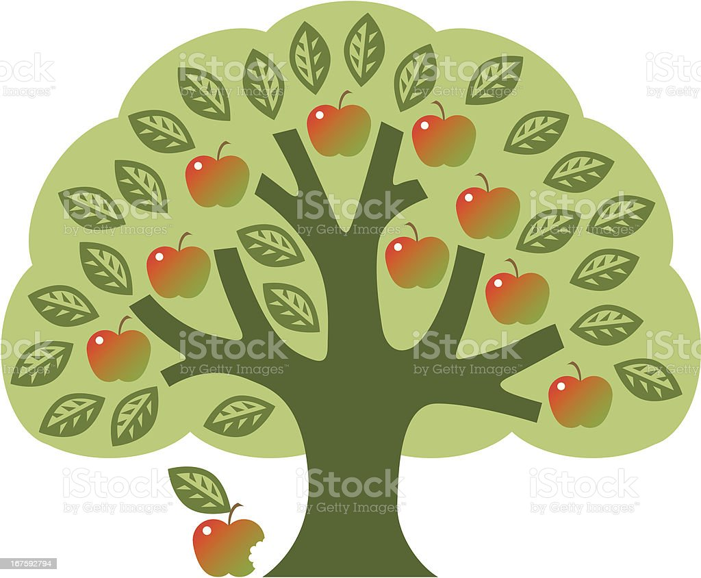 The Tree of Knowledge royalty-free stock vector art