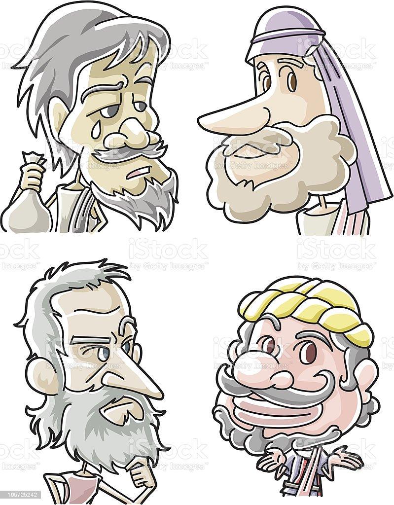 The Twelve Apostles of Jesus - Judas, Philip, Thomas, Matthew