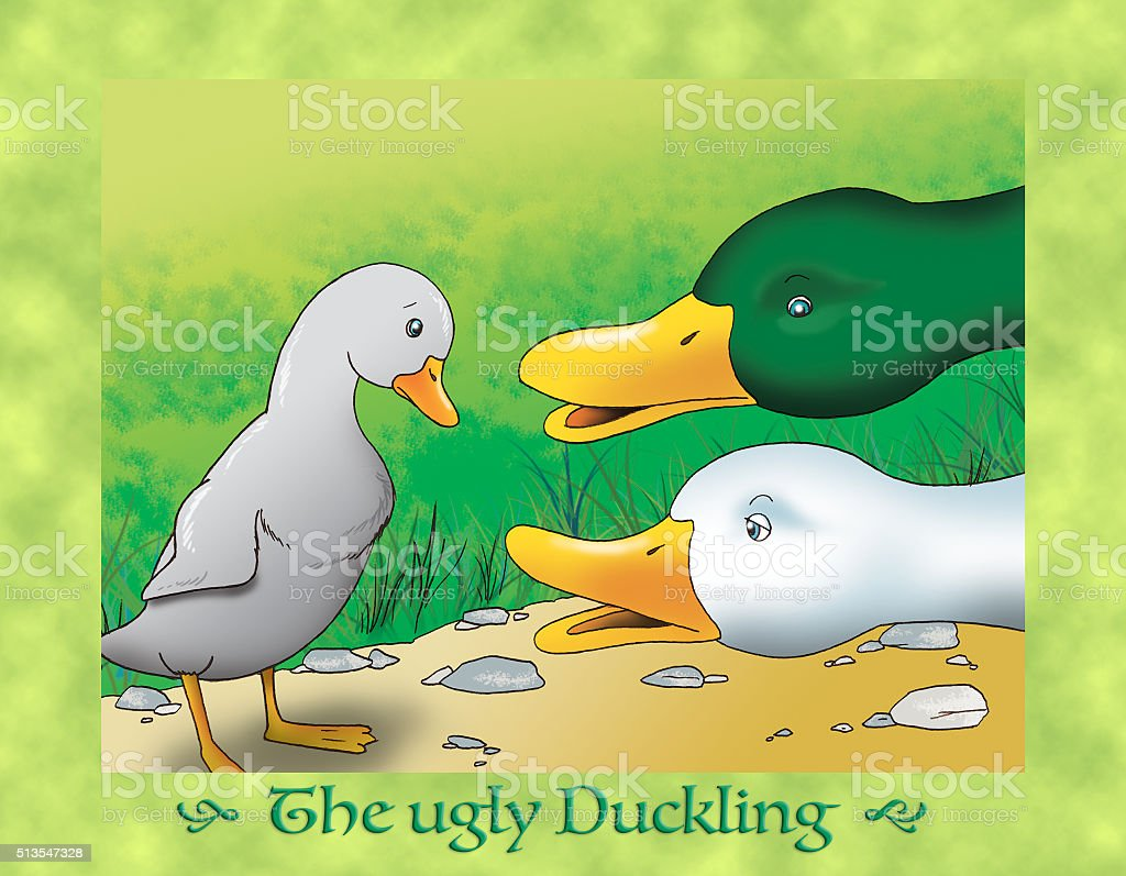 The ugly duckling 6 the grandest duck vector art illustration