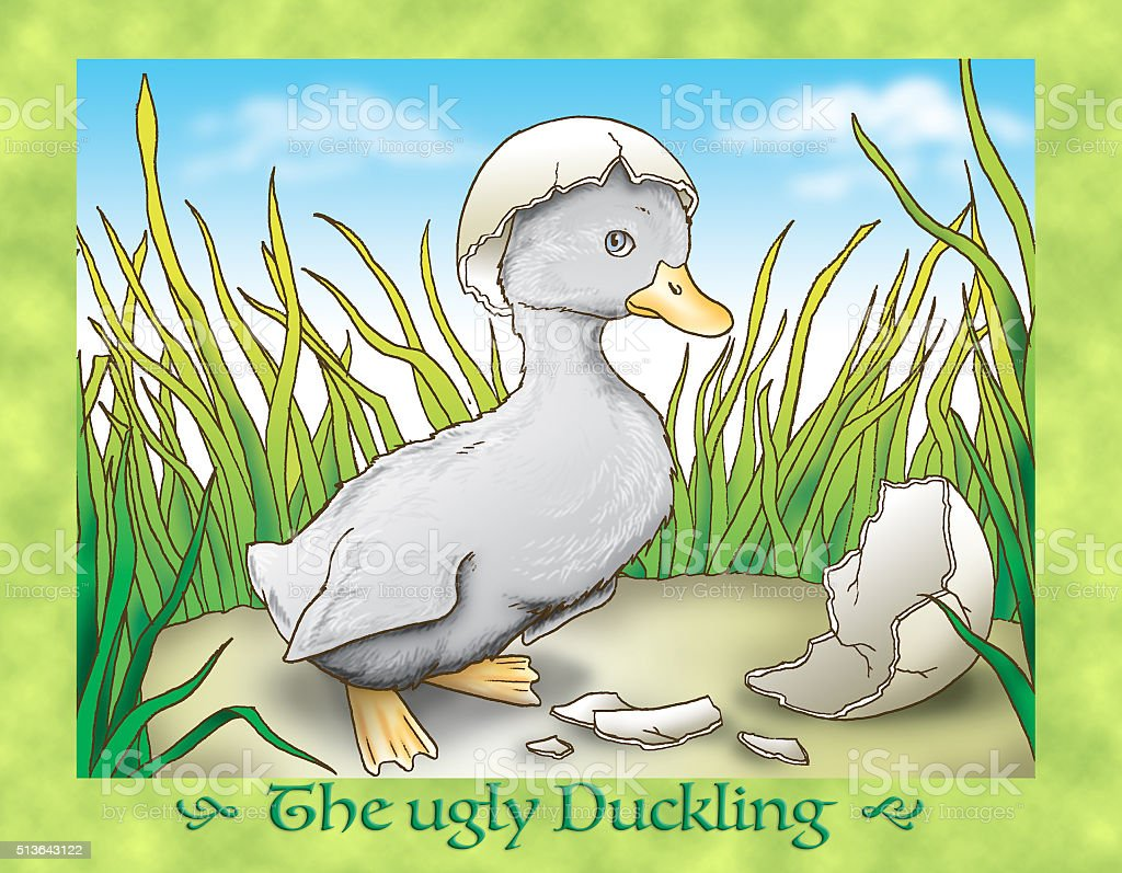 The ugly duckling COVER vector art illustration