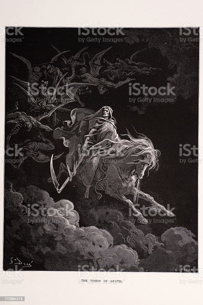 The vision of Death royalty-free stock vector art