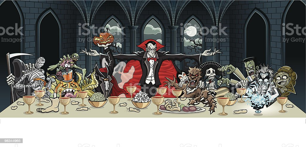 The Vlad Supper royalty-free the vlad supper stock vector art & more images of alien