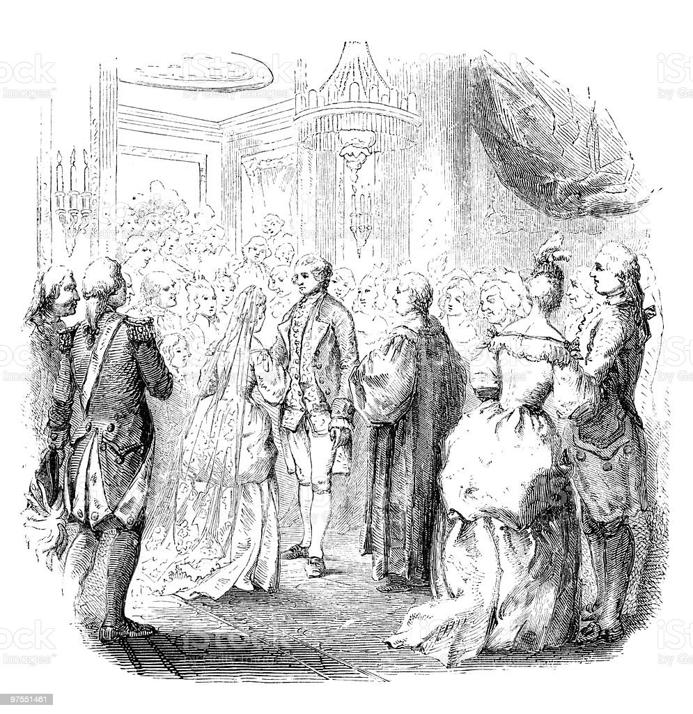 The Wedding of George Washington royalty-free the wedding of george washington stock vector art & more images of 18th century style