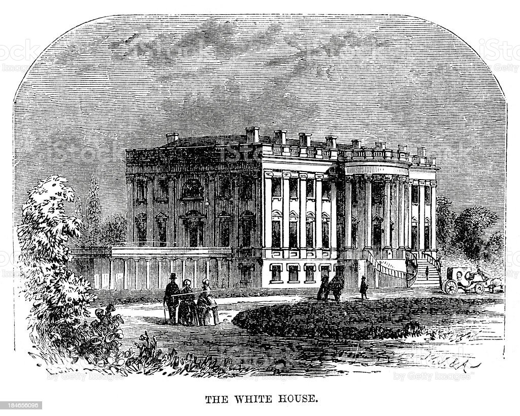 The White House royalty-free the white house stock vector art & more images of 19th century