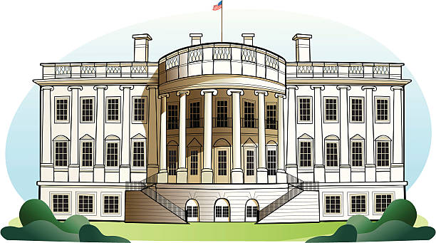The White House - Washington DC The White House - Washington DC white house stock illustrations