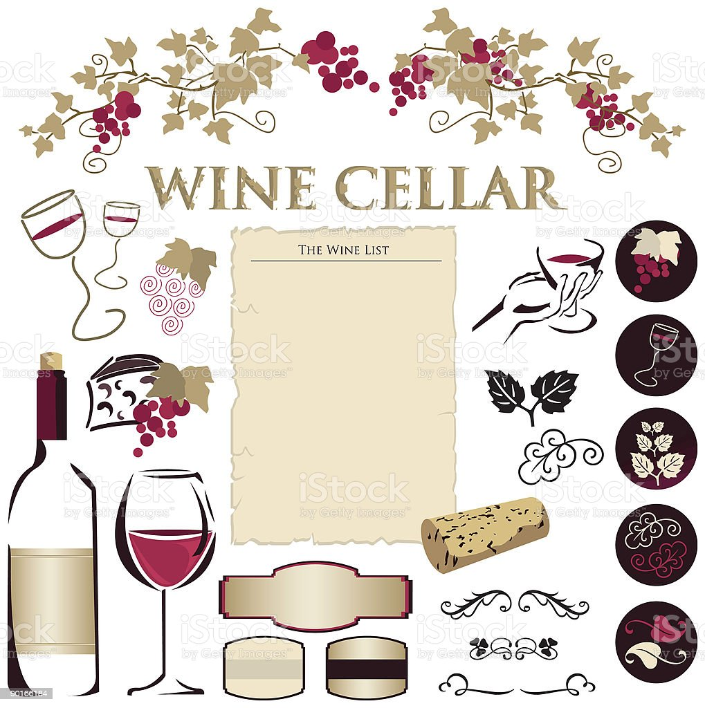 The Wine Cellar Collection vector art illustration