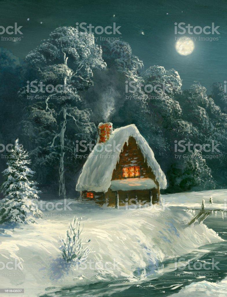 The winter bridge royalty-free the winter bridge stock vector art & more images of art
