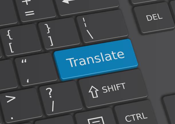 The word Translate written on the keyboard - ilustración de arte vectorial