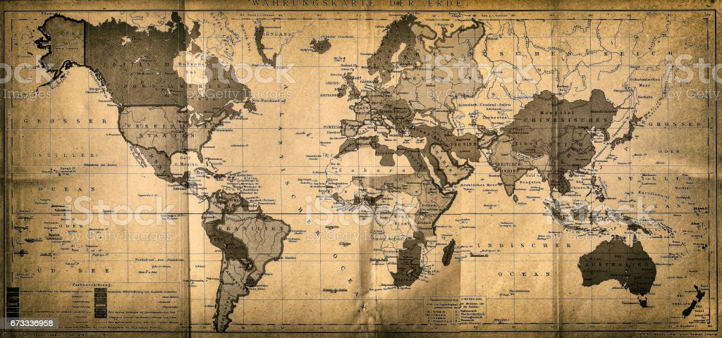 The World map vector art illustration