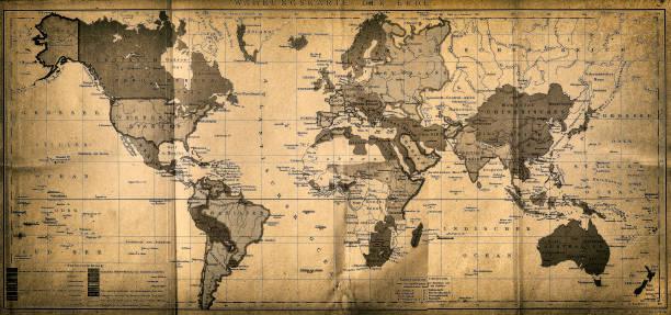 the world map - ビンテージの地図点のイラスト素材/クリップアート素材/マンガ素材/アイコン素材