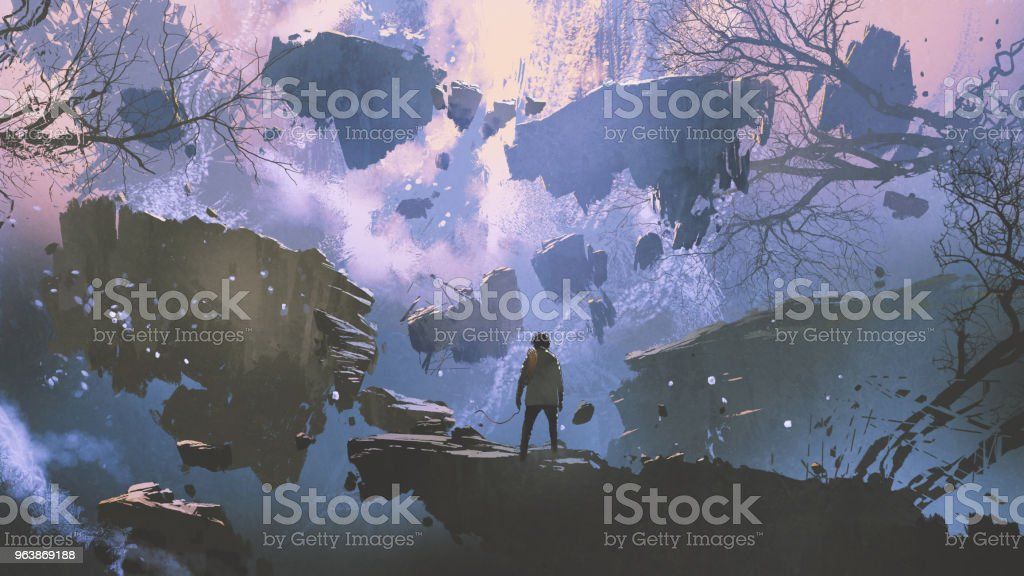 the world without gravity - Royalty-free Adult stock illustration