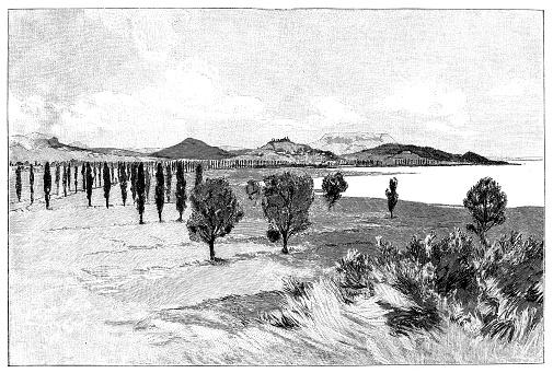 The Zala shore of Lake Balaton at the end of the 19th century