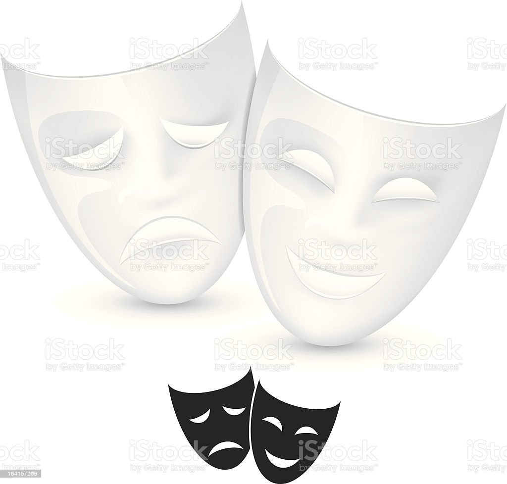 Theater masks royalty-free stock vector art