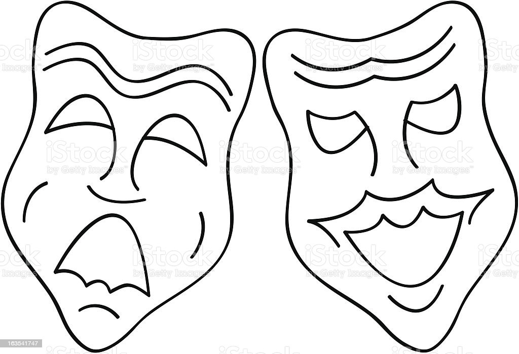 Theatre Masks royalty-free stock vector art