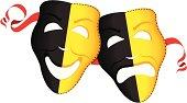 vector illustration of Theatre Masks