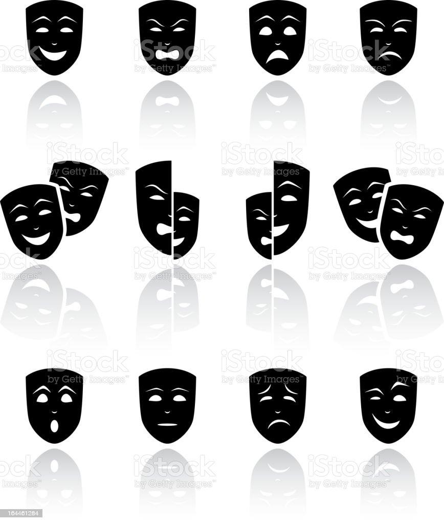 Theater Masken – Vektorgrafik