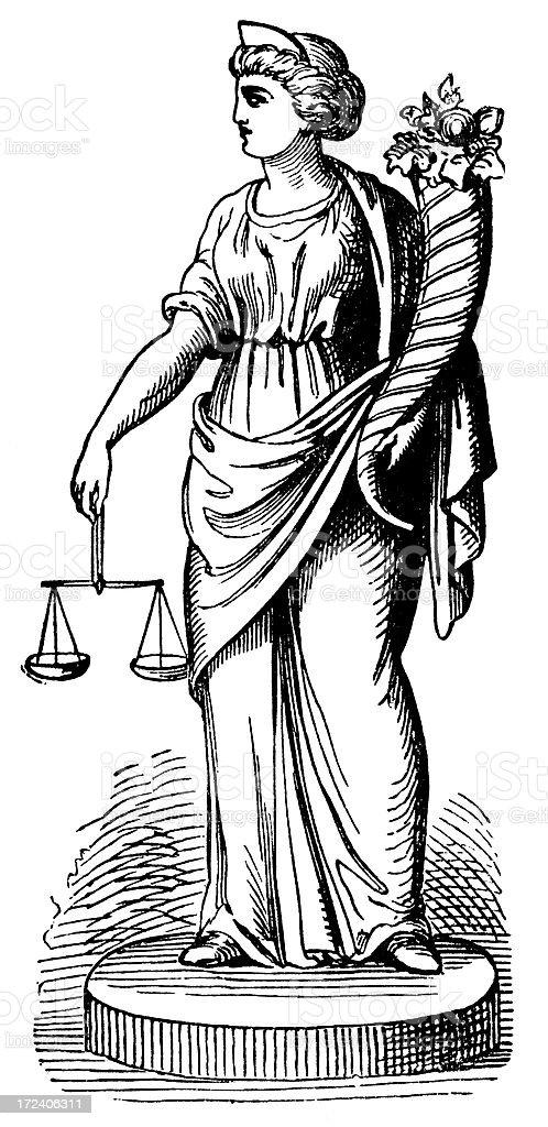 Themis (Goddess Of Law) royalty-free stock vector art